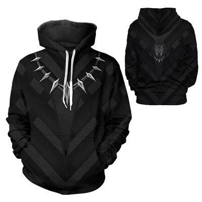 Avengers Infinity War Cosplay Black Panther Hoodie Sweatshirt Pullover Jumper