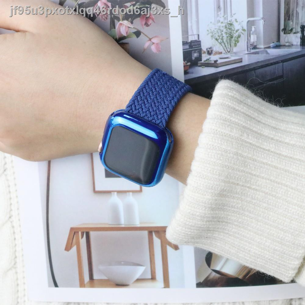 🚀พร้อมส่ง🗼❧✘สาย applewatch newest Woven Solo Braided Loop Watch strap for apple 6 se 40 มม 44 42 38 iwatch series 5 4