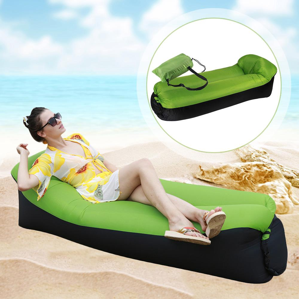 Ultra-light Portable Outdoor Inflatable Lounger Bag Lazy Air Sofa Fast Inflated Air Chair Ideal for Camping Picnics Beach
