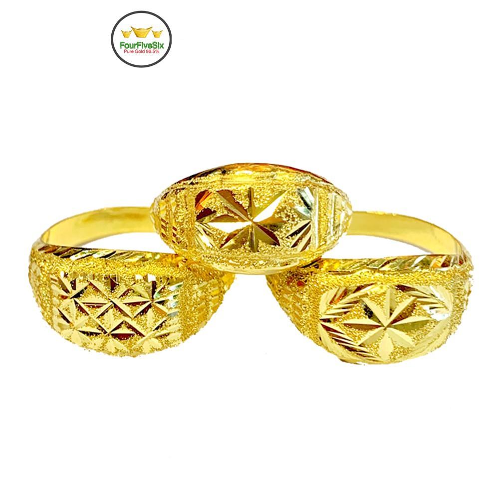 ราคาพิเศษ❧✜▤Flash Sale แหวนทองครึ่งสลึง หัวโป่งคละลาย หนัก 1.9 กรัม ทองคำแท้96.5%