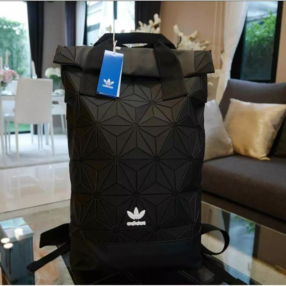 Adidas 3D Roll Top Backpack กระเป๋าเป้ Unisex ดีไซน์สุดฮิตสไตล์ ISSEY MIYAKE (งานแท้100%)