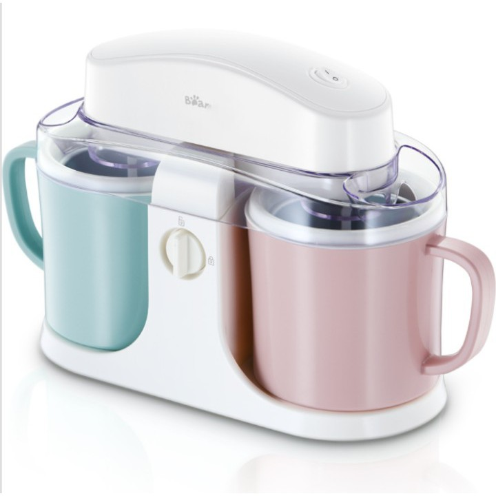 เครื่องทำไอศครีม เครื่องทำไอศกรีมถังคู่อัตโนมัติในครัวเรือน