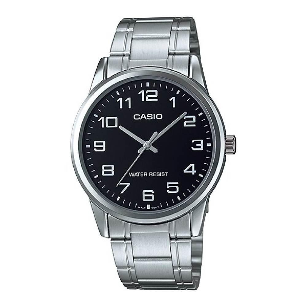 จัดส่งฟรีนาฬิกา รุ่น Casio นาฬิกาข้อมือ ผู้ชาย สายสแตนเลส รุ่น MTP-V001D-1B ( Black/Silver ) จากร้าน MIN WATCH