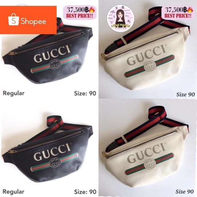 New!! Gucci Print Belt Bag มีสองสีนะคะ