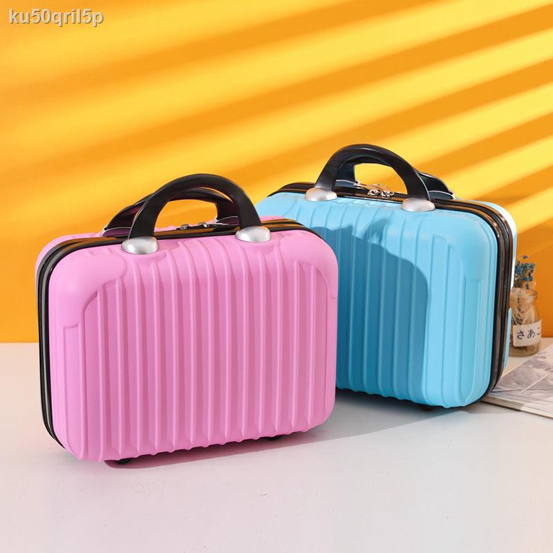 กระเป๋าเครื่องสำอางค์ ที่ใช้งานได้ดี☑✿♗กระเป๋าเดินทางแบบพกพา 14 นิ้วกระเป๋าเครื่องสำอางล้างเก็บกระเป๋าหญิงน้ำหนักเบามินิ