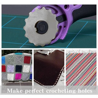 45MM Rotary Cutter for Making holes with 1 Titanium Crochet Edge blade 15 Teeth