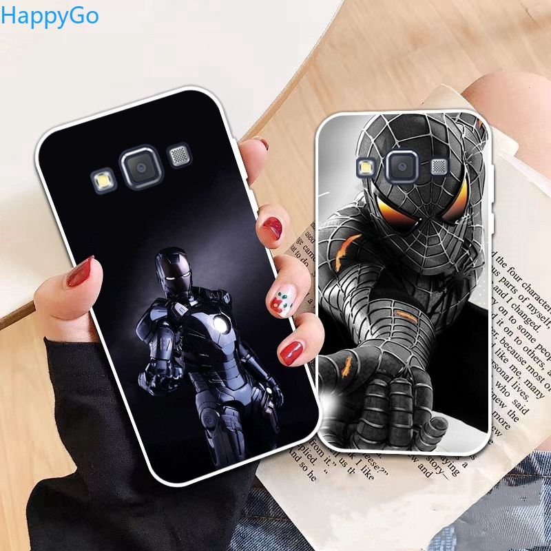 Happigo-Samsung A3 A5 A6 A7 A8 A9 Star Pro Plus E5 E7 2016 2017 2018 Spiderman pattern-3 Soft Silicon Case Cover
