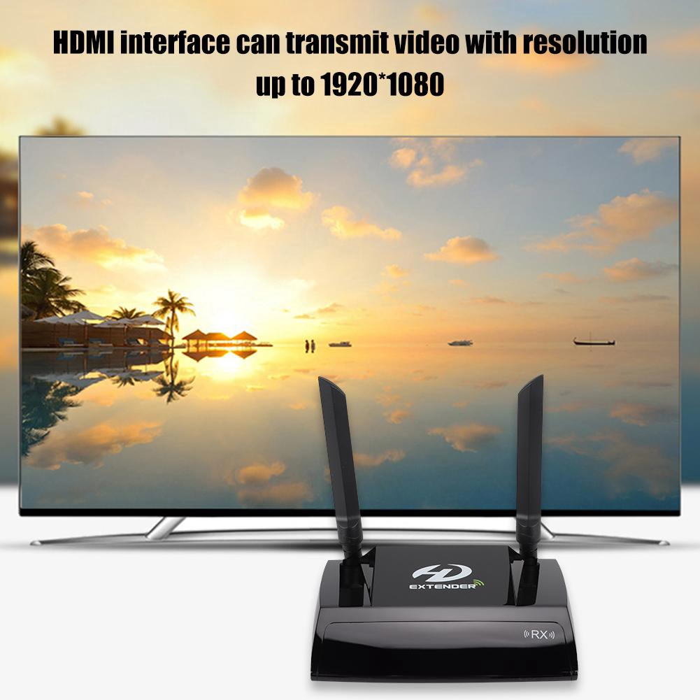 Huida HDMI Transmitter and Receiver Wireless Extender, 100m Wireless  Receiver Receiver HDMI Support 8 sets of 5 8GHz Cha