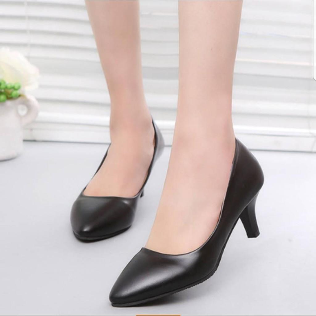 ★*... ...*★ รองเท้าส้นสูง คัชชูสูงส้นแหลมใส่ทำงาน ❤❤ รองเท้าส้นสูงสตรีเซ็กซี่ เท้าส้นสูงรองเท้าแฟชั่นส้นแหลม