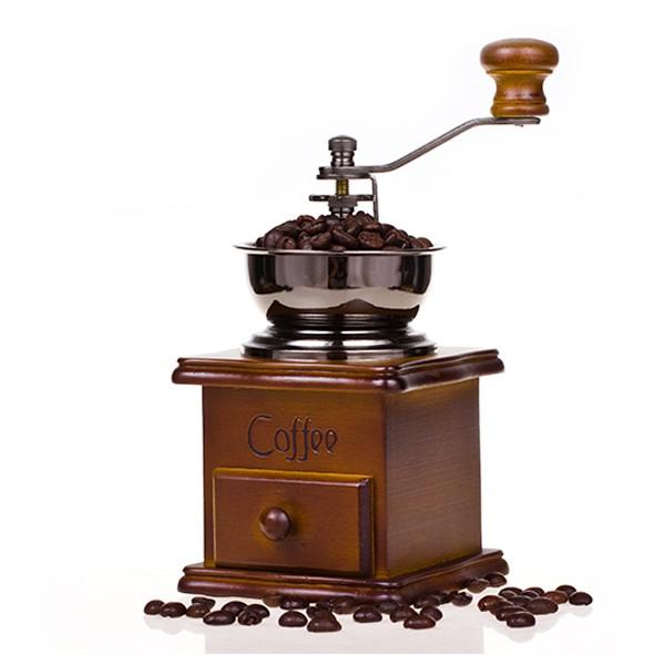 เครื่องบดกาแฟแบบมือหมุนสไตล์วินเทจบดเมล็ดกาแฟ แบบมือหมุน เหมาะกับการทำกาแฟสดได้ทุกแบบ เพียงใส่เมล็ดกาแฟที่คั่วแล้ว