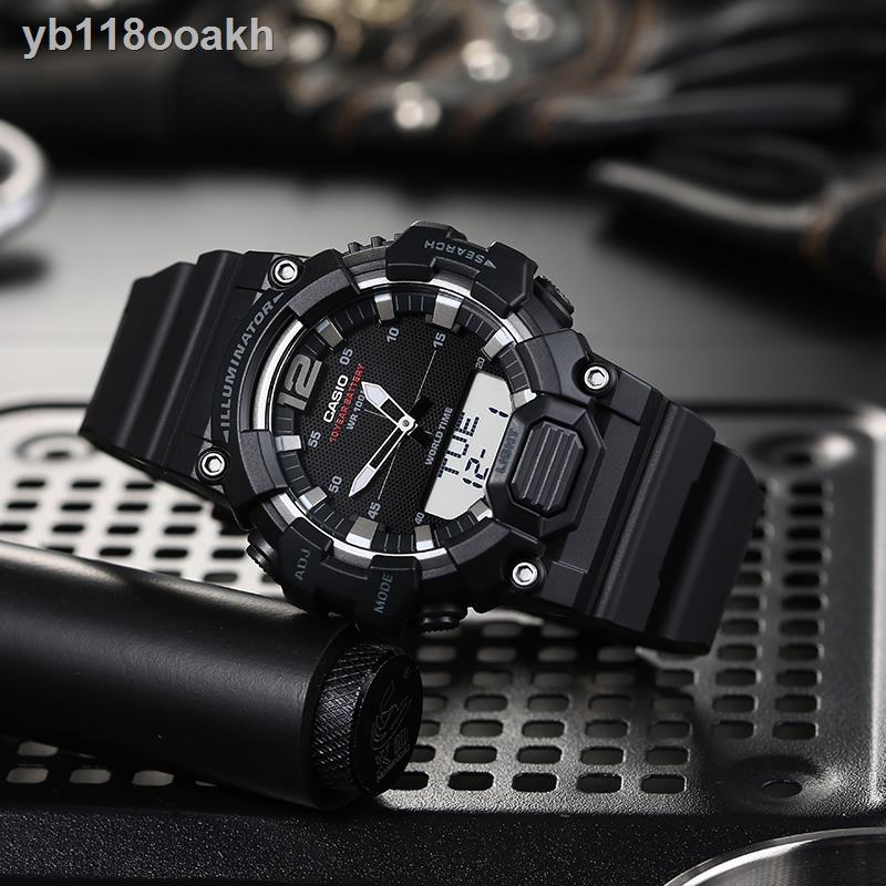 ❏❧นาฬิกาคาสิโอ Casio ตัวชี้กำลังสิบปีแบบดิจิตอลจอแสดงผลคู่แบบสปอร์ตนาฬิกาอิเล็กทรอนิกส์ HDC-700AEQ110