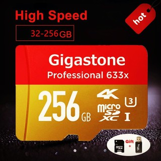 Gigastone G-512 GB 256 GB 128 gb 64gb Flash Memory Card 633x Micro SD Card U