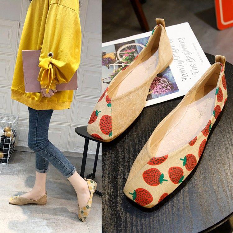 รองเท้าคัชชู ผู้หญิง ส้นเรียบ ใส่สบาย คัทชู คัตชู ใส่ทำงาน รองเท้าคัทชู ส้นเรียบ
