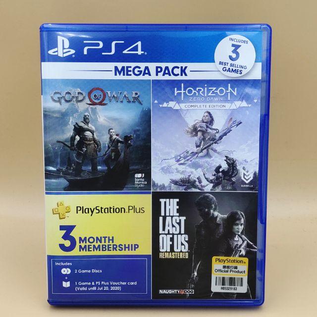 (มือสอง) มือ2 เกม ps4 : God of war 4 + Horizon Zero Dawn Complete Edition ปกรวม โซน3 แผ่นสวย