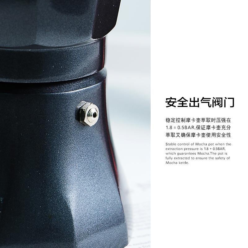 เตา moka pot Meixiกาแฟมอคค่าหม้อมือเครื่องชงกาแฟคู่มือไฟฟ้าทำอาหารอิตาลีเข้มข้นหยดกรองหม้อครัวเรือนอิตาลีหม้อกาแฟ d6wd