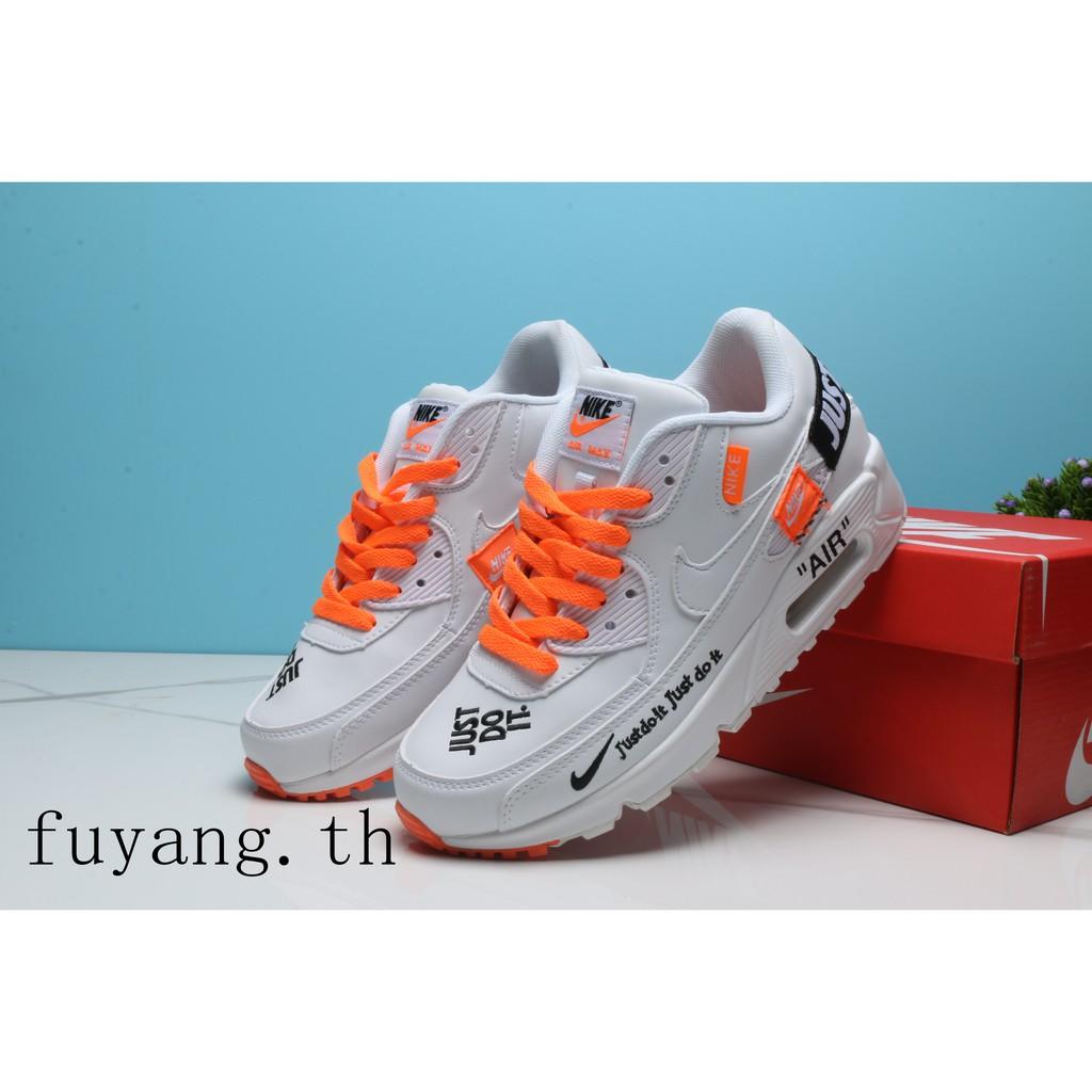 รองเท้าลำลองผู้ชาย NIKE AIR MAX90 Y551 Leisure Motion Cushion รองเท้าออกกำลังกาย 24