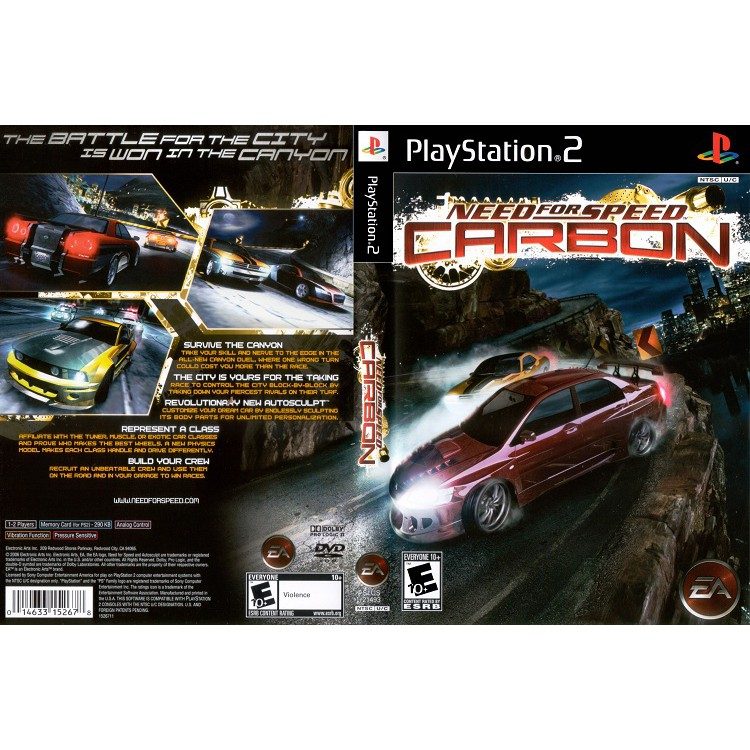 NEED FOR SPEED CARBON [PS2 US : DVD5 1 Disc]