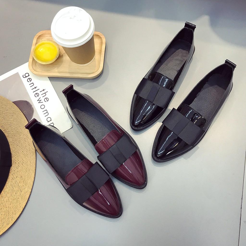 รองเท้าเปิดส้น😊รองเท้าหัวแหลม รองเท้าผู้หญิง รองเท้าคัชชู ส้นเตี้ย รองเท้าโลหส้นเตี้ย หัวแหลม ส้นแบนหัวแหลม รองเท้าแฟชั