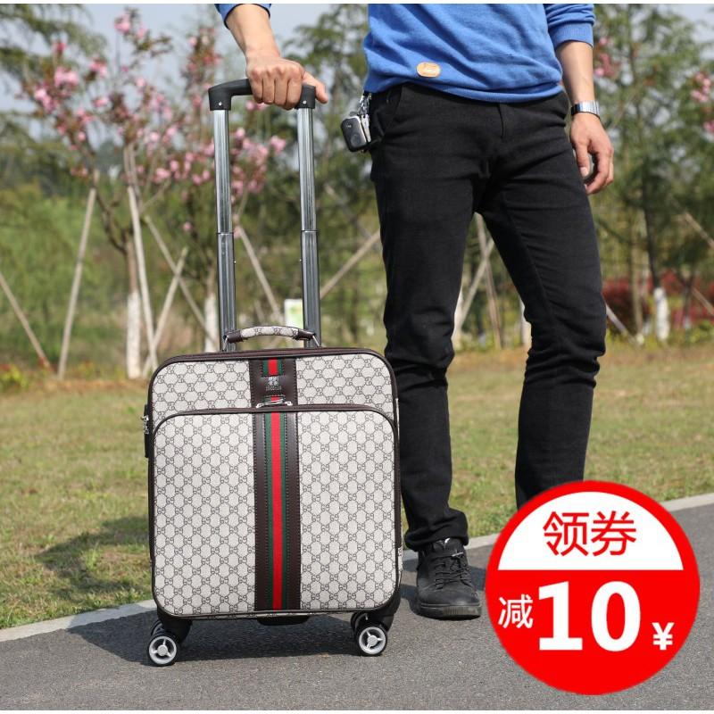 กระเป๋าเดินทางกระเป๋าเดินทางขนาดเล็กมินิปีนเขากรณีกระเป๋าเดินทางธุรกิจชาย16นิ้วพนักงานต้อนรับ lockbox18นิ้วกล่อง