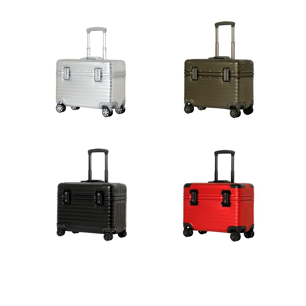 """กระเป๋าเดินทาง กระเป๋าเดินทางล้อลาก Pilot Aluminium 15"""" อลูมิเนียมทั้งใบ กระเป๋าล้อลาก กระเป๋าเดินทาง"""