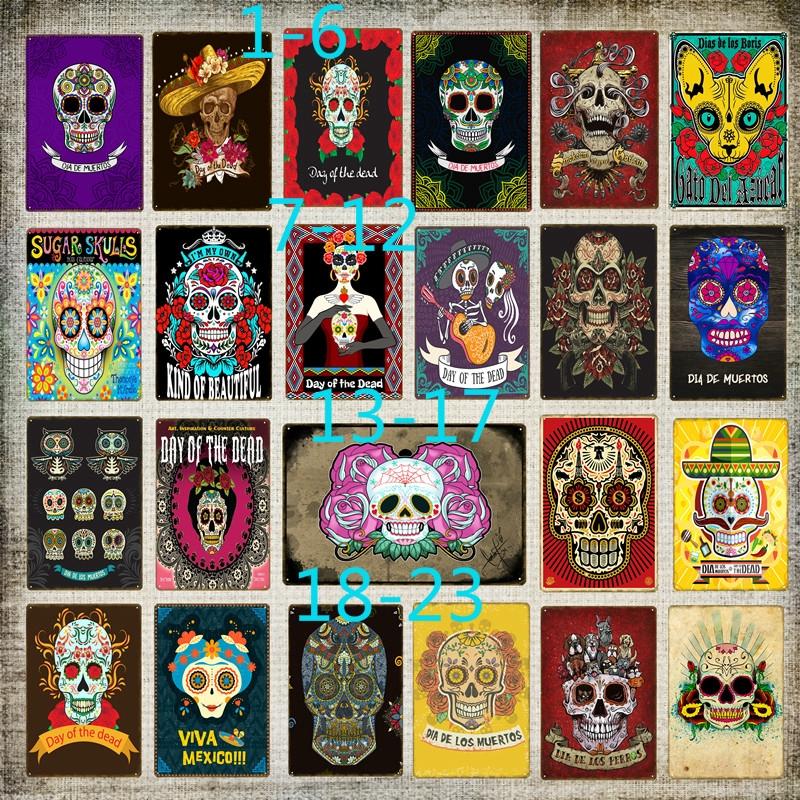 Mexican Sugar Skull Wall Stickers