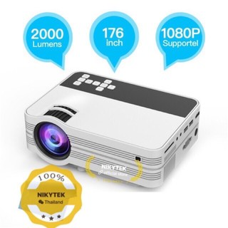 NEWEST 2020-UB10 Mini Projector UB10 Portable 3D LED Projector 2000Lumens TV Home Theater LCD Video USB VGA Support 1080