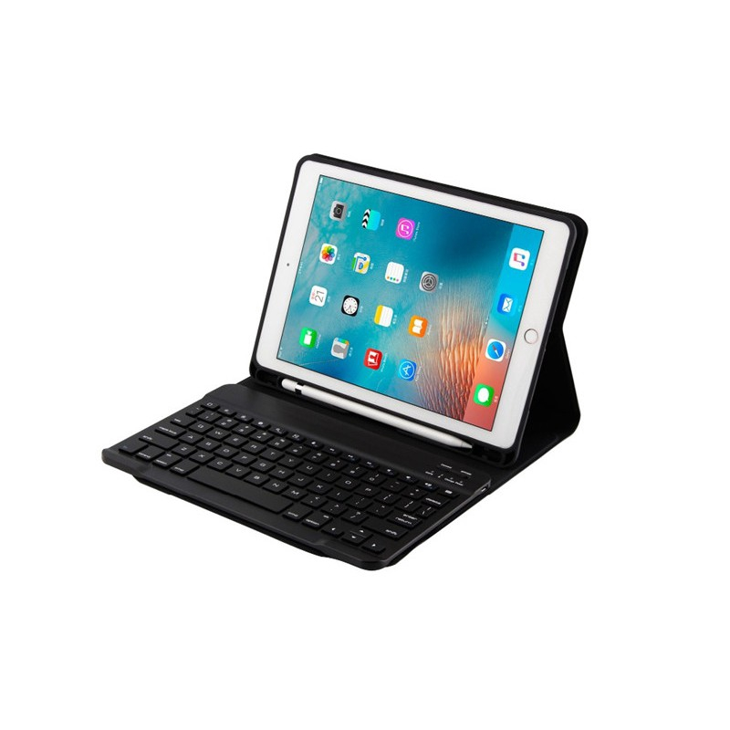 Wireless Bluetooth Keyboard For Apple iPad Mini 1 2 3 Smart PU Leather Cover Case With Pencil Holder efGL