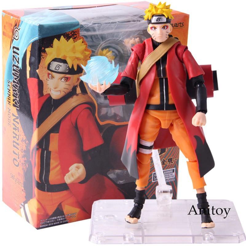 Anime Naruto Shippuden Uzumaki Naruto PVC Figure S.H Figuarts Collection SHF Toy