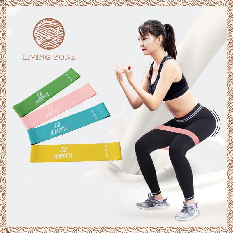 in กีฬาและกิจกรรมกลางแจ้งอุปกรณ์ฟิตเนสและออกกำลังกายอื่น▪✼✧Living Zone ผ้ายืดออกกำลังกาย ยางยืดวงแหวน ความหนืด 4 ระดับ