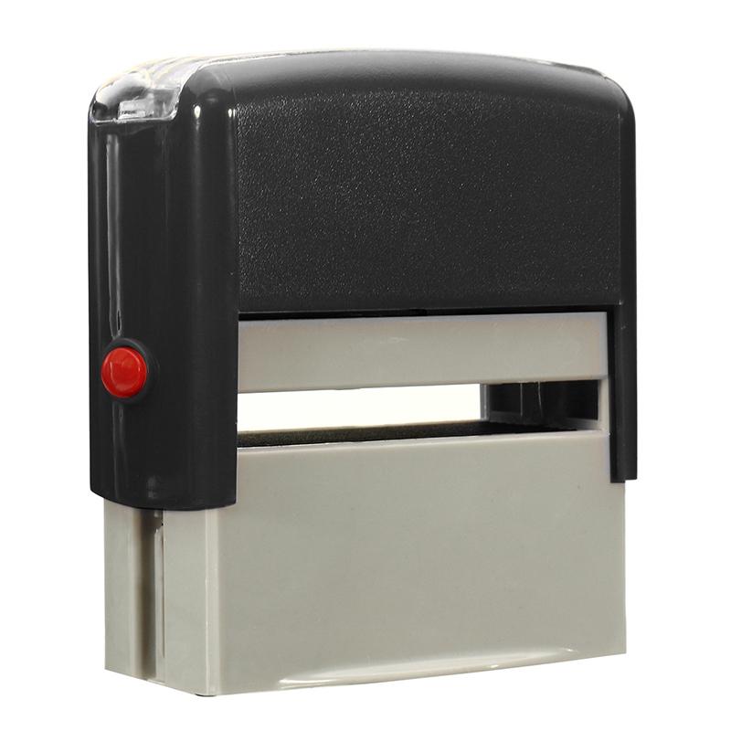 DIY Rubber Stamps Kit Self Inking Business Address Garage Name Dish Seal