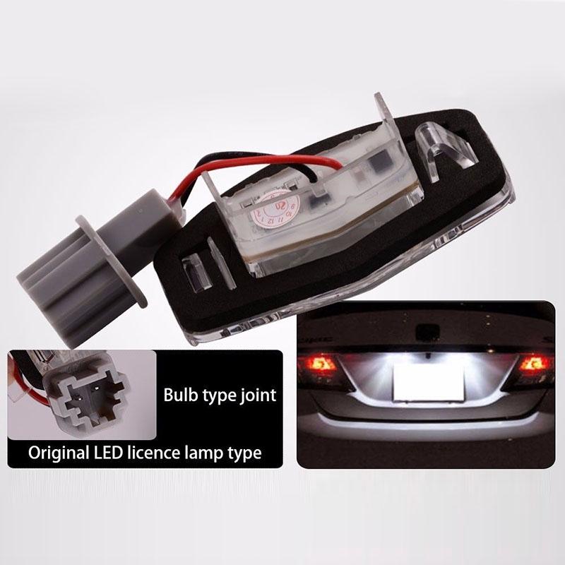 For Honda Civic 2006-2012 Blue LED Interior Kit Xenon White License Light LED