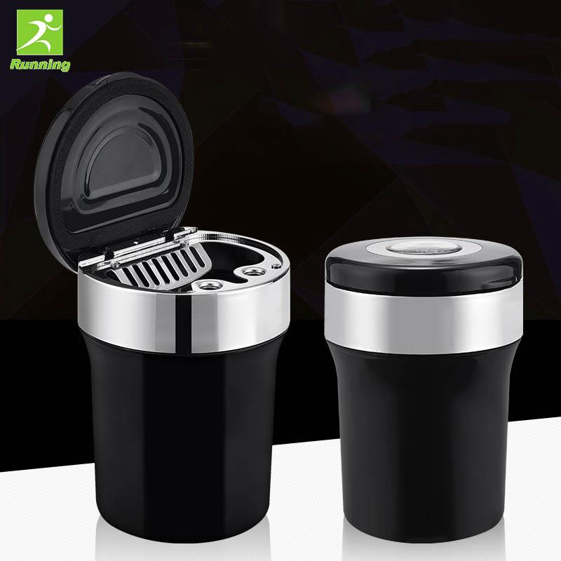 RUN Cigarette Ashtray Smoke Cup Holder Vehicles Compass Universal