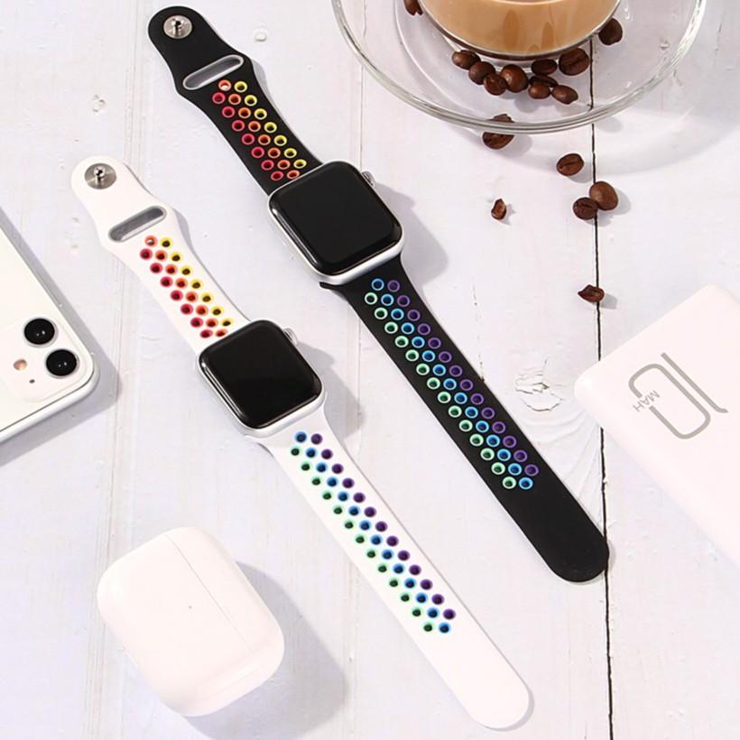 New Rainbow Apple watch Strap Apple Watch Series 6 5 4 3 2, Apple Watch SE Band Apple Watch 44/42mm 40/38mm Size S/M M/L