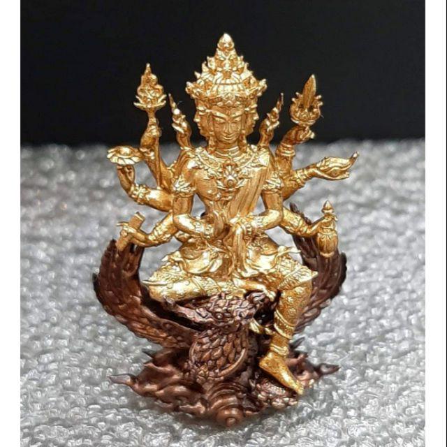 📌#พระพรหมธาดามหาเศรษฐี(บรรจุกริ่ง) รุ่น บุญเศรษฐี  #หลวงปู่ยูร วัดหนองป่าหมาก.  🔸(( เนื้อบรอนซ์ออสสเตเลีย น้ำผึ้งทอง))