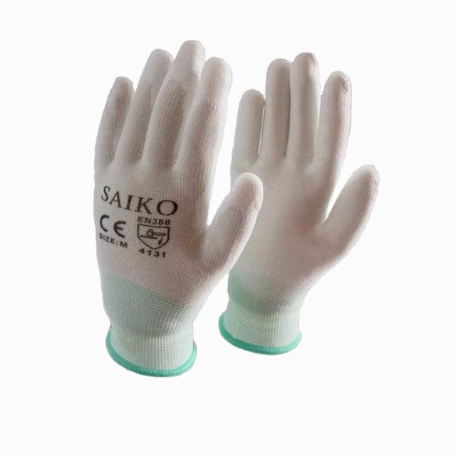 ?? ถุงมือไนล่อนเคลือบ Pu เต็มฝ่ามือ ?? Saiko รหัส45 (ราคาต่อคู่).