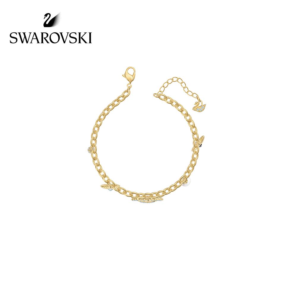 ☽✄สร้อยข้อมือระดับสูงสุดSwarovski VINTAGE Swan วินเทจหงส์สร้อยข้อมือผู้หญิงที่สง่างามและงดงามของขวัญเครื่องประดับสำหรับส