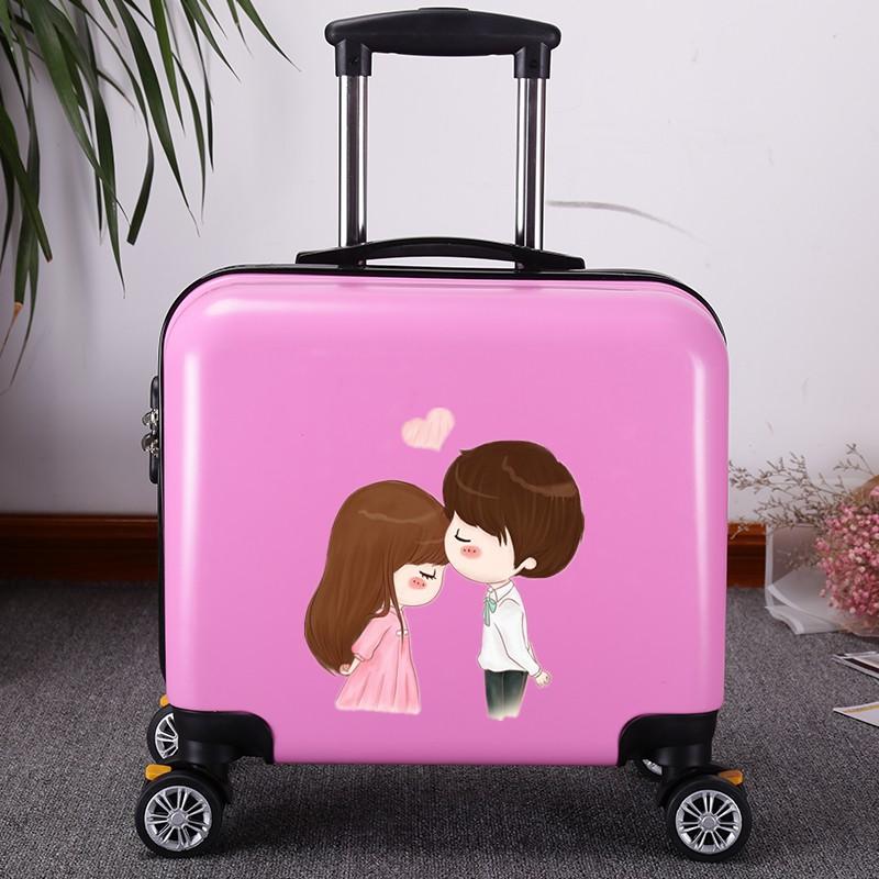 กระเป๋าเดินทางมีล้อเลื่อนโลโก้ขนาด 18 นิ้ว