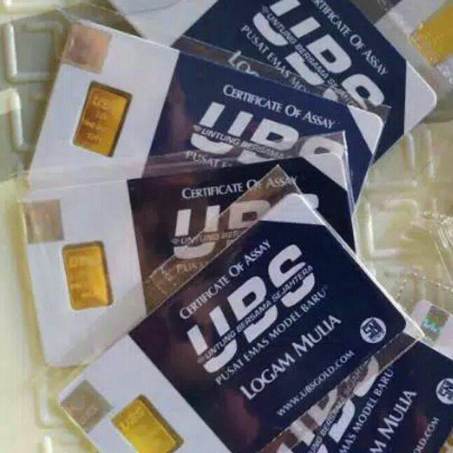 Ubs ราคาถูกสีทอง 1 กรัม