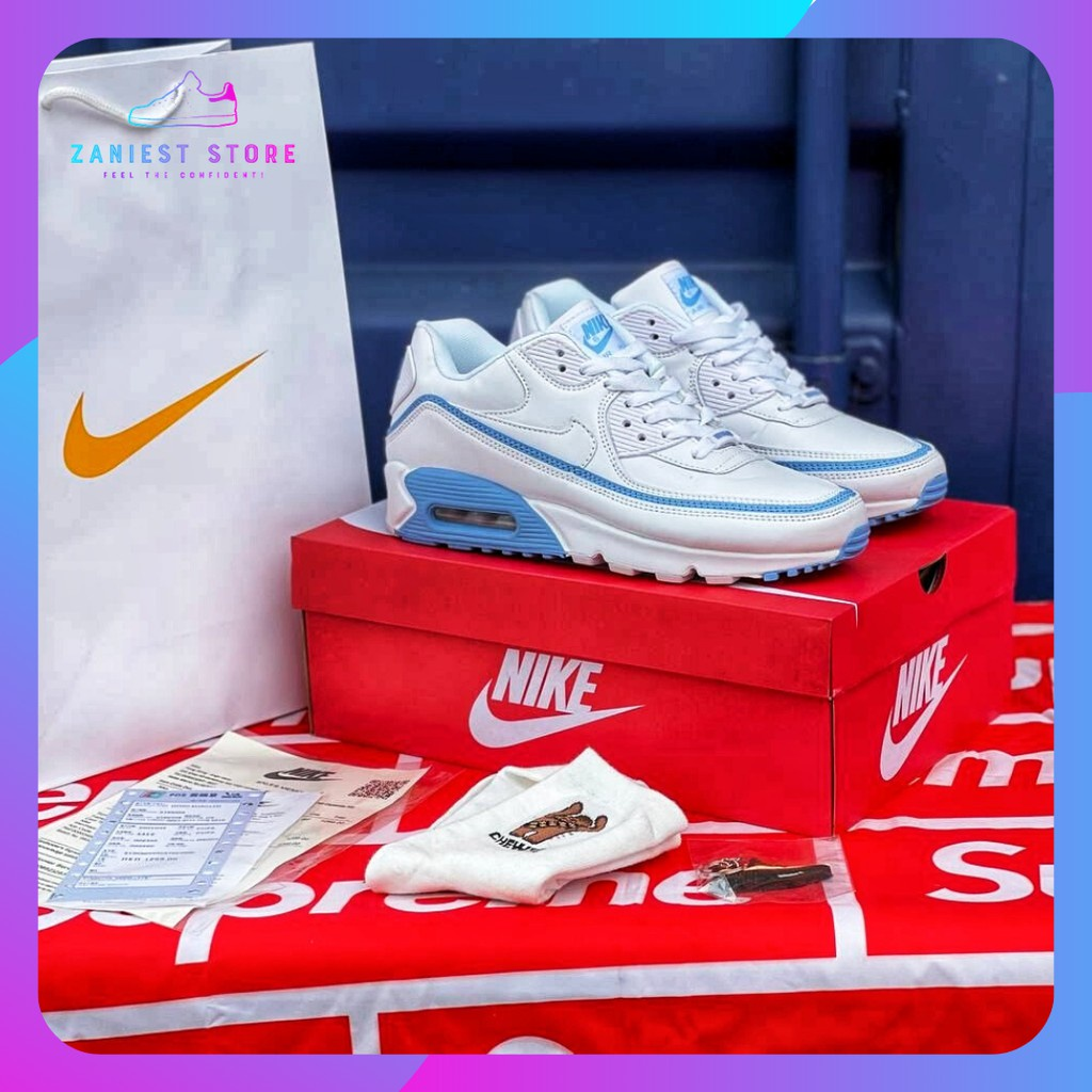 NIKE Airmax 90 Undefeated White Blue (Buy 1 Get 4 Free Gifts)