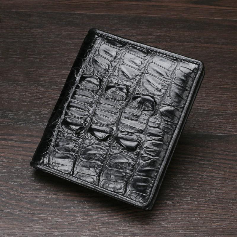 กระเป๋า coach✹2021 ใหม่ กระเป๋าสตางค์ผู้ชาย ลายจระเข้ไทย กระเป๋าสตางค์ใบสั้น ที่ใส่บัตรหลายใบ กระเป๋าสตางค์หนังจระเข้ชาย
