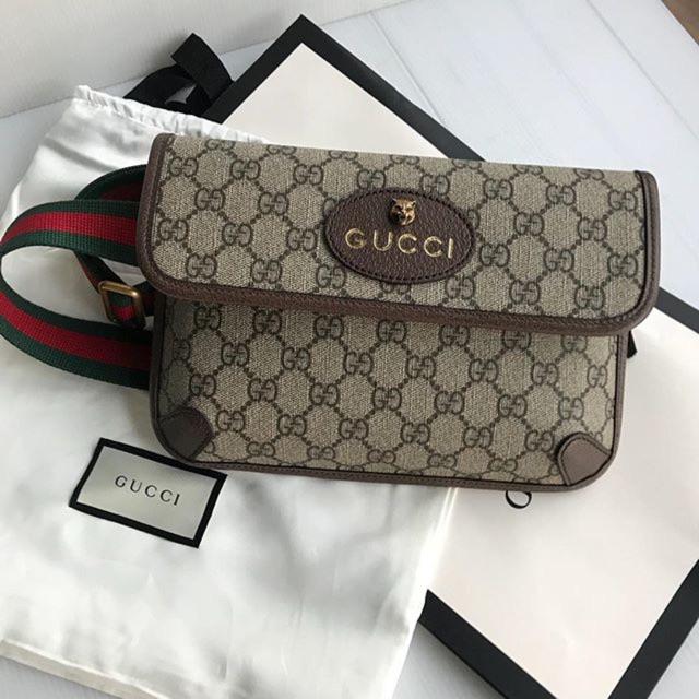 New Gucci Supreme Belt Bag พร้อมส่งของแท้ 100%