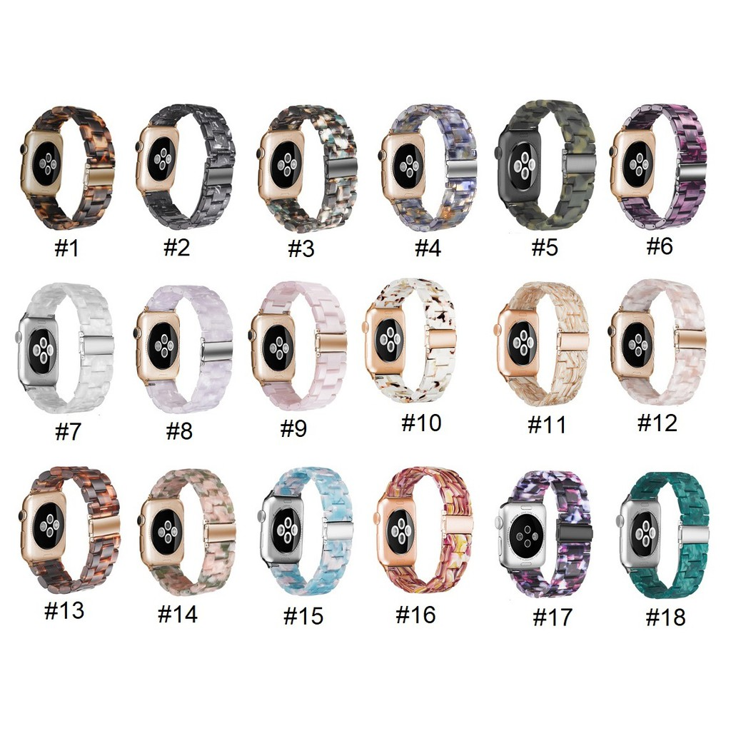 1 38mm SE  Watch สายนาฬิกาข้อมือ ,Series3, for 44mm สายนาฬิกา Stainless Steel Apple 42mm ,Series5,Series4 40mm iwatch Applewatch สาย watch Apple apple Watch band 6 / Resin 3 Series size Series2 4 2 Series6 เรซิน Watch Straps 5