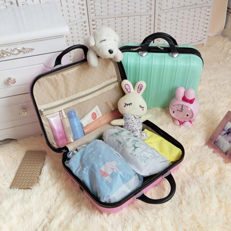 ┅>กระเป๋าเครื่องสำอางขนาด 14 นิ้ว กระเป๋าถือขนาดเล็ก 16 กระเป๋าเดินทางแบบพกพาสำหรับซักกระเป๋าสำหรับผู้หญิงเดินทางเพื่อธุ