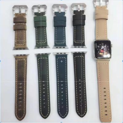 Panerai Leather apple watch strap สายนาฬิกาหนัง iwatch series SE 6 5 4 3 2 1  สาย applewatch 38 40 42 44mm