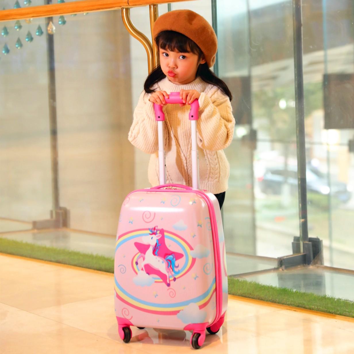 ☼⅜ กระเป๋าเดินทางพกพา  กระเป๋ารถเข็นเดินทางกระเป๋าเดินทางเด็ก รถเข็นเด็กกระเป๋านักเรียนแม่ 18 นิ้วน่ารักกระเป๋าเดินทางกร