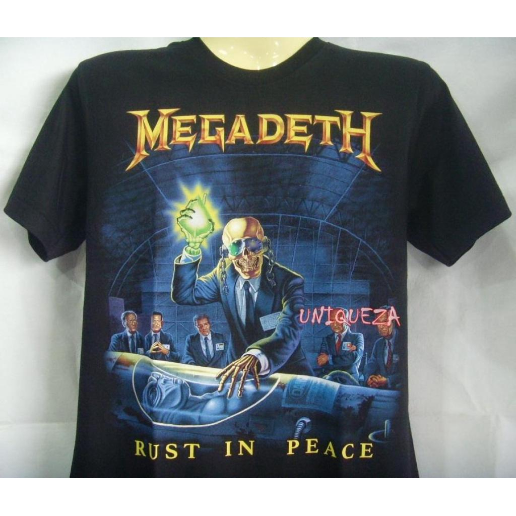 New Official MEGADETH RUST IN PEACE BLACK T SHIRT Size S-3XL