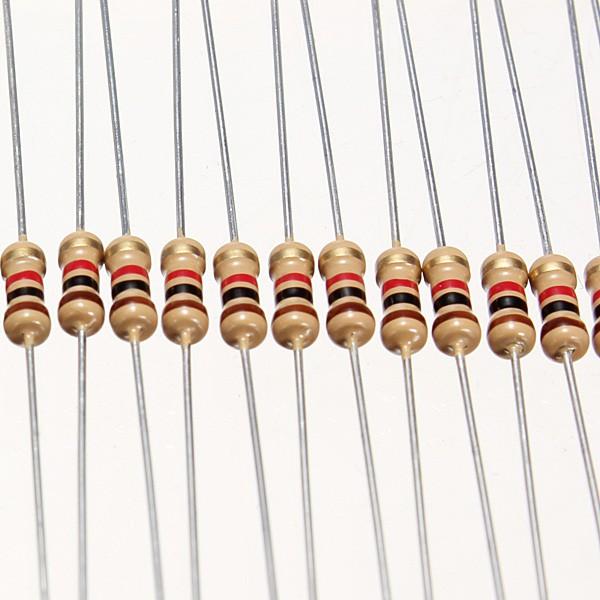 500 x Resistors 2.2 Ohms OHM 1//4W 5/% Carbon Film NEW