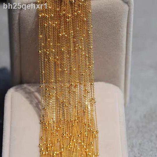 ราคาถูก ▫♦สร้อยคอ Starry Little Bean ที่ทำด้วยทองคำแท้เหมือนนกฟีนิกซ์