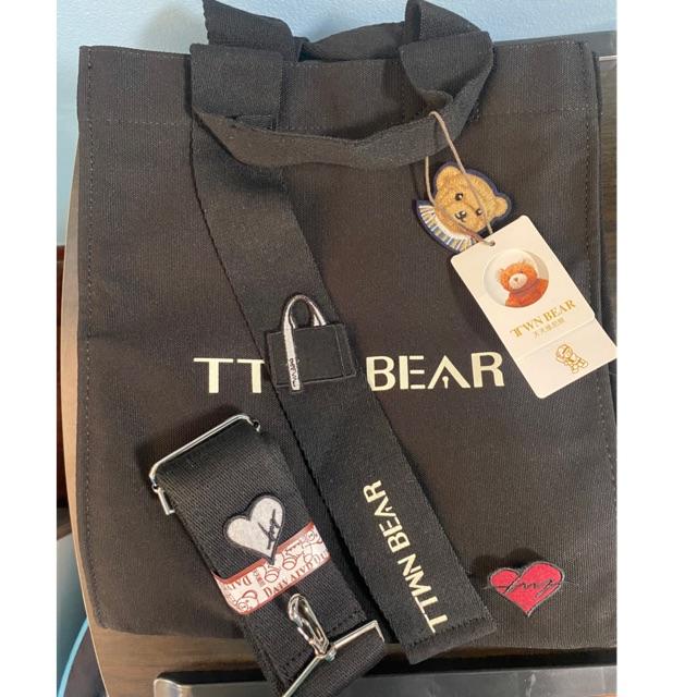 กระเป๋าผ้าแคนวาส TTWN BEAR มีสายสะพายยาว