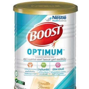 Boost Optimum 400 กรัม (เนสท์เล่ บูสท์ ออปติมัม) อาหารสูตรครบถ้วนที่มีเวย์โปรตีน สำหรับผู้สูงอายุ รสวานิลลา